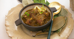 Michelle Trusselle's mutton curry with potato puffs, fried breadfruit and a tropical salad ...
