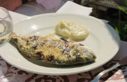 Benjamin's sea bream with aioli on Rick Stein's Secret France
