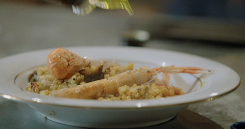 Antwan's seafood rice dish on Rick Stein's Secret France