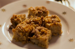 Nigella Lawson's panettone stuffing squares on Saturday kitchen
