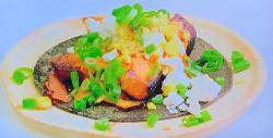 Wes' sweet potato taco on Paul Goes To Hollywood
