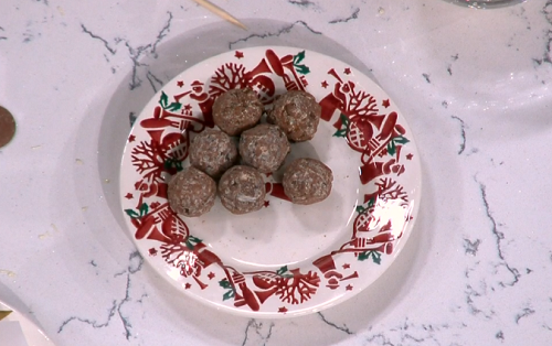 Paul A Young's chocolate dinner truffles on This Morning