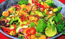 John Gregory-Smith's  wterfall salad on Sunday Brunch