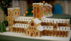 Steven's York Minster gingerbread construction on Kirstie's Handmade Christmas