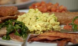 Ian and Henry (Bosh) ultimate vegan breakfast fry up on Living on the Veg