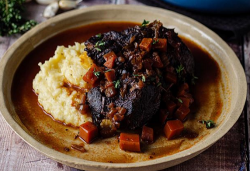 Simon Rimmer's beef cheeks with goats cheese mash on Sunday Brunch