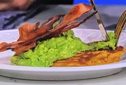 John Torode's Aussie breakfast with cornbread fritters, bacon and avocado on This Morning