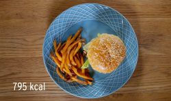 Stacie Stewart's gourmet burger and fries for The Weight Down Diet on How To Loose Weight Well