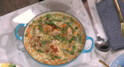 Jack Monroe's chicken with vegetables on This Morning feed your family for a fiver