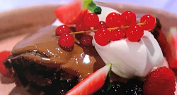 Simon Rimmer's chocolate bar pudding on Sunday Brunch