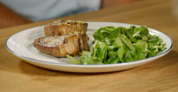 Stacie Stewart's lamb chops with green salad for The Russian Air Force Diet on How To Loose Weig ...
