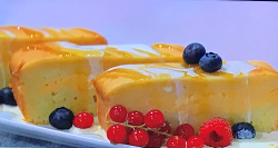 Simon Rimmer's golden syrup and custard loaf cake on Sunday Brunch