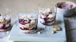 Tom Kerridge lemon and blueberry yoghurt pots on  Lose Weight and Get Fit with Tom Kerridge