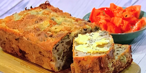 Simon Rimmer's pear, Gorgonzola and walnut loaf on Sunday Brunch