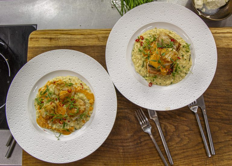 James Martin Ginger and Lemongrass Risotto with Salmon and Scallops on James Martin's Satu ...