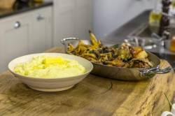 James Martin's Roast Chicken with Wild Mushroom Sauce and Mash Potatoes on James Martin ...
