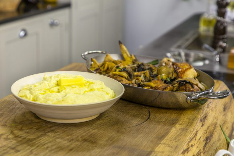 James Martin's Roast Chicken with Wild Mushroom Sauce and Mash Potatoes on James Martin ...