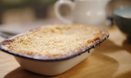 Georgia's classic pear crumble with stem ginger dessert on Best Home Cook