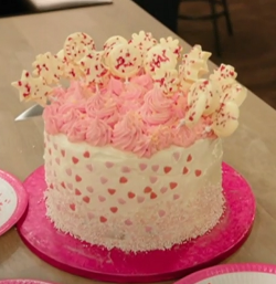 Katie's perfect pink cake for a birthday party on Best Home Cook