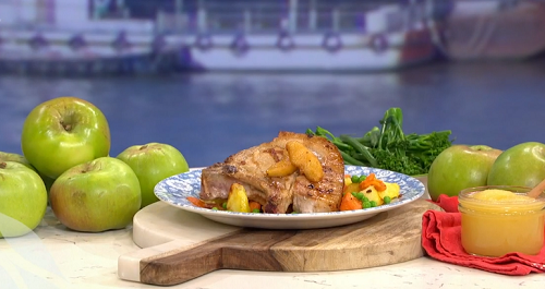 Phil Vickery's perfect pork chops with Bramley apple ketchup on This Morning