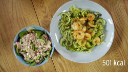 Stacie Stewart's courgetti and paprika prawns for The Big Fat Full Plate by Dr Helen Lawal on Ho ...