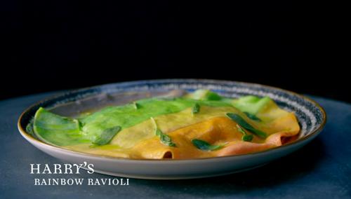 Harry's rainbow ravioli on Crazy Delicious