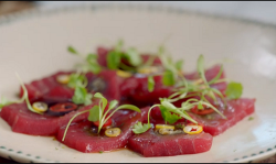 Jamie Oliver and Ant & Dec's Japanese tuna with yuzu on Jamie and Jimmy's Friday Night Feast
