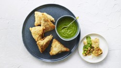 Angela Hartnett's vegetable samosas with fresh coriander chutney on Best Home Cook
