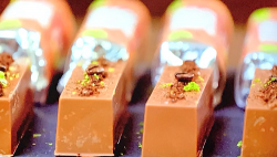 Ian's coffee and lime sonic monkey chocolate bars on The Hairy Bikers' Chocolate Challenge