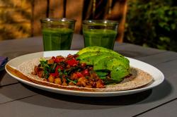 Ian and Henry (Bosh)'s Barcelona Breakfast Burrito and Green Goddess Smoothie on Living on ...