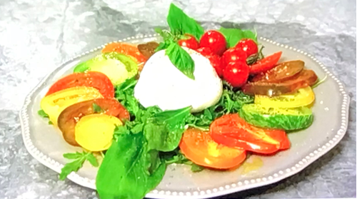 Mark-Francis's Burratta Salad on Celebrity Come Dine With Me 2020