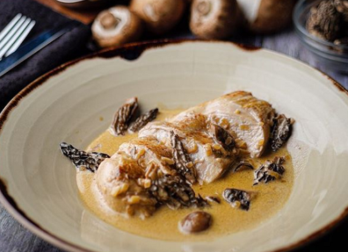 Rick Stein's chicken fricassee with morel mushrooms on Sunday Brunch