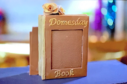 Zoe's chocolate cookie and marshmallow Domesday book on The Hairy Bikers' Chocolate  ...
