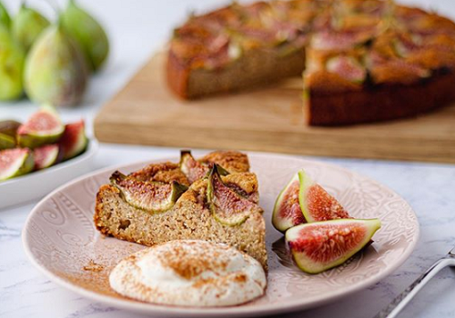 Tonia Buxton's  Fig and almond Cake with Orange Blossom Yoghurt on Sunday Brunch