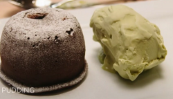 Georgia's chocolate matcha fondant with green tea ice cream dessert on Best Home Cook 2020