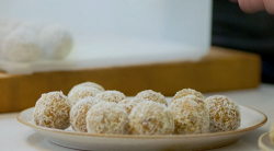Tom Kerridge's fruit and nuts energy balls with carrot cake and coconut on Lose Weight and ...
