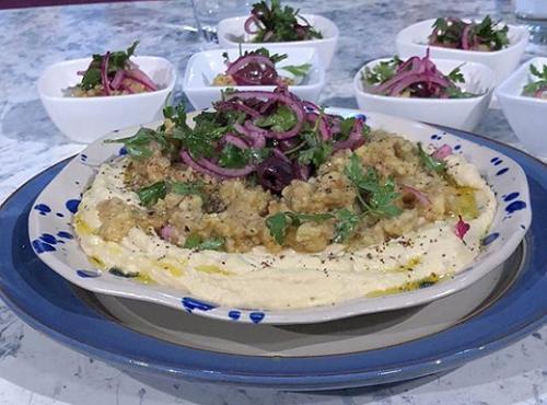John Gregory-Smith balkan hummus bowl on Sunday Brunch