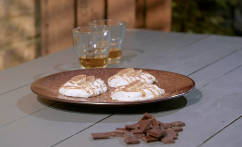 Ian and Henry (Bosh)'s Mini Banoffee Meringues with vegan dark chocolate, aquafaba ( chickpea wa ...