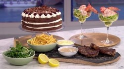Angela Hartnett's retro Valentine's Day feast with Prawn cocktail, Steak & chips ...