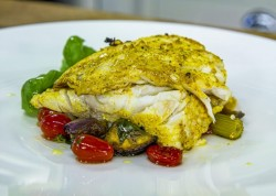 Galton Blackiston BBQ Wild Sea Bass with Ratatouille on James Martin's Saturday Morning