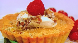 Simon Rimmer's caramelised white chocolate and pecan tart on Sunday Brunch