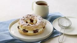 Angela Hartnett's Paris-Brest  choux bun with a chocolate hazelnut and Chantilly cream fil ...
