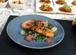 Sue Quinn's mixed citrus and prawn salad on Sunday Brunch