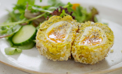 Tom Kerridge's low fat vegetarian chickpea scotch eggs on Lose Weight and Get Fit