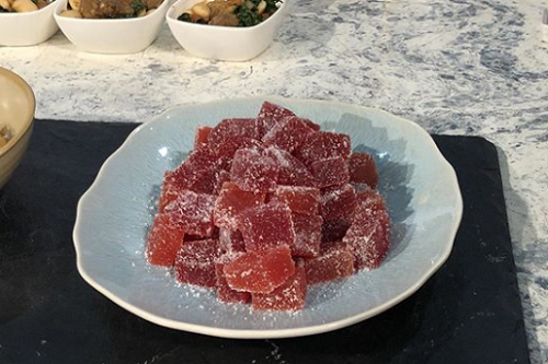 Sue Quinn's citrus jelly sweets on Sunday Brunch