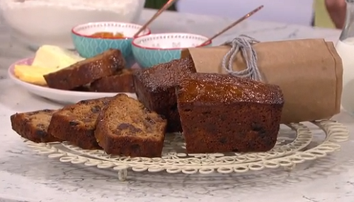 Alison O'Neil tea loaf using British tea on This Morning