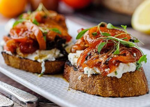 Simon Rimmer's Roasted Tomato and Ricotta Toasts on Sunday Brunch