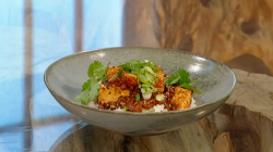 Jordan Bourke Korean mapo tofu on Saturday Kitchen