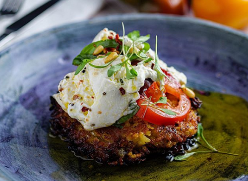 Simon Rimmer's Risotto Pancake with Burrata Salad on Sunday Brunch