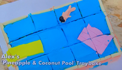 Alex Jones' pineapple and coconut pool traybake on The Great Celebrity Bake Off for SU2C